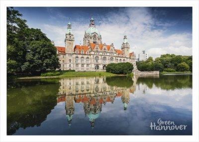 Green Hannover Postkarte Neues Rathaus