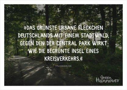 Green Hannover Postkarte Zitat
