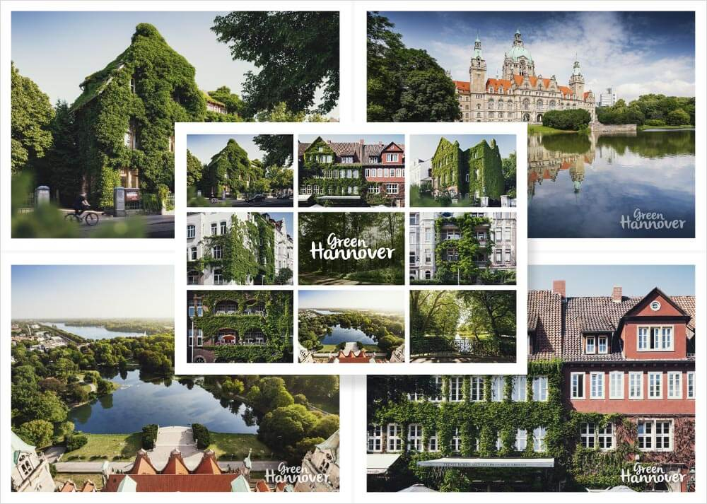 Green Hannover Postkarten 5er Set 1