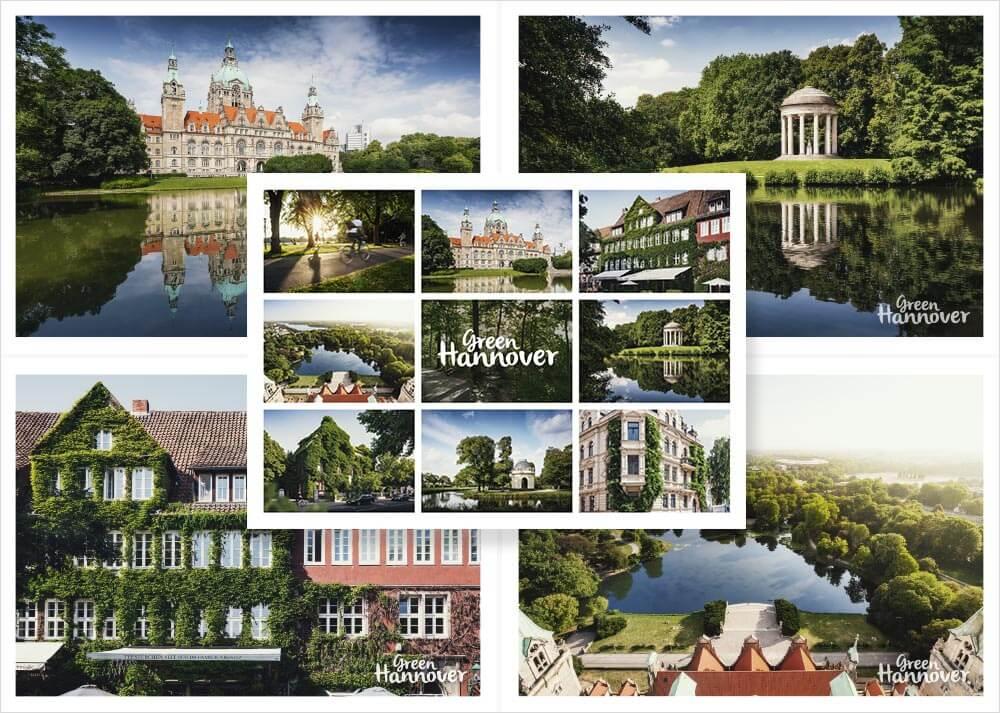 Green Hannover Postkarten 5er Set 2