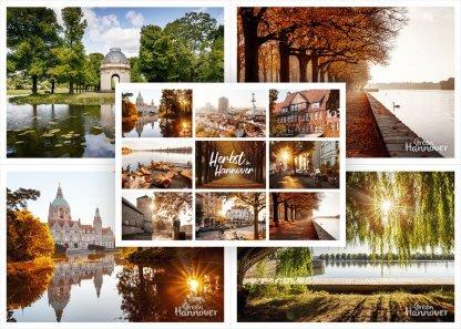 Green Hannover Postkarten-Set 5er