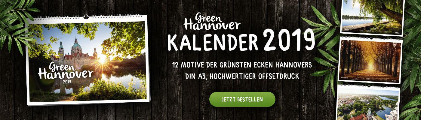 Wandkalender Green Hannover 2019