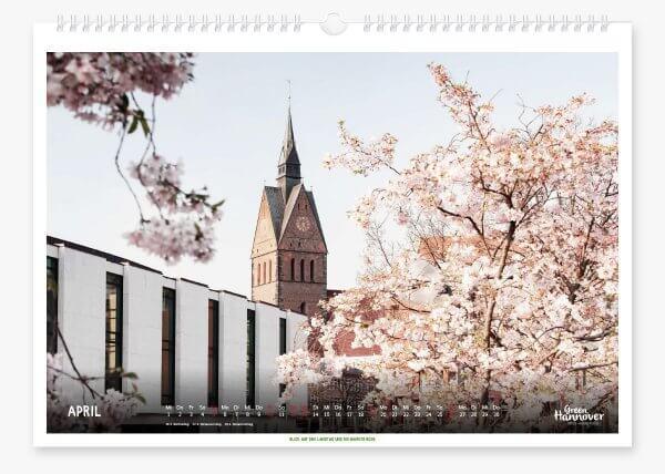 Green Hannover Wandkalender 2020 April