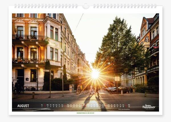 Green Hannover Wandkalender 2020 August