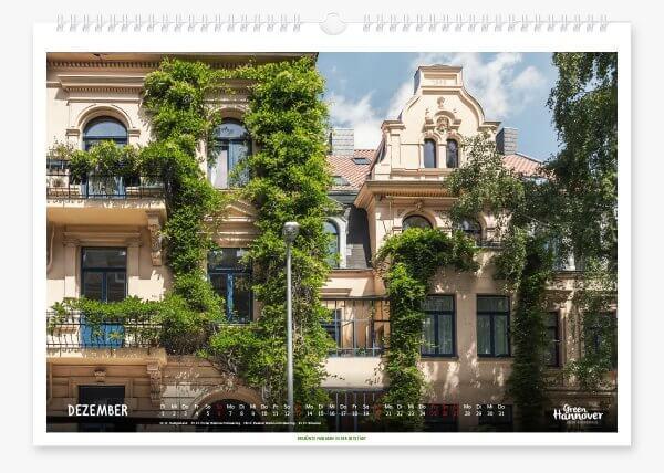 Green Hannover Wandkalender 2020 Dezember
