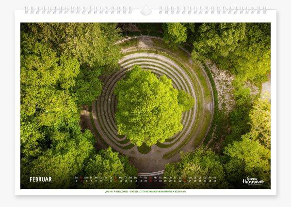 Green Hannover Wandkalender 2020 Februar