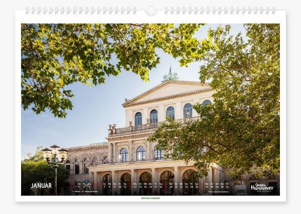 Green Hannover Wandkalender 2020 Januar