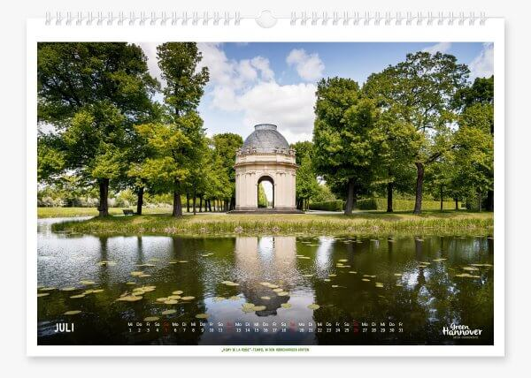 Green Hannover Wandkalender 2020 Juli