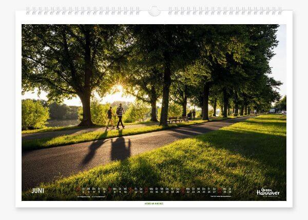 Green Hannover Wandkalender 2020 Juni
