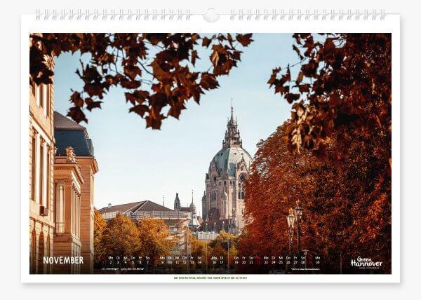 Green Hannover Wandkalender 2020 November