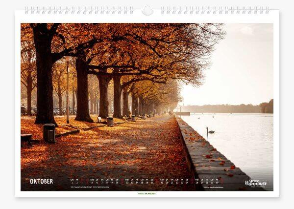 Green Hannover Wandkalender 2020 Oktober