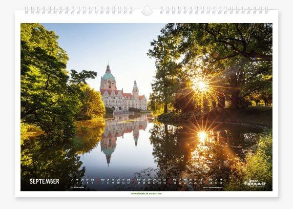 Green Hannover Wandkalender 2020 September
