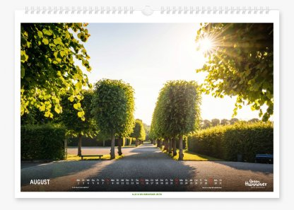 Green Hannover Wandkalender 2021 August