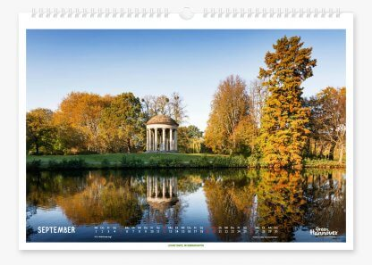Green Hannover Wandkalender 2021 September