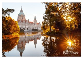 GreenHannover Postkarte Neues Rathaus Herbst
